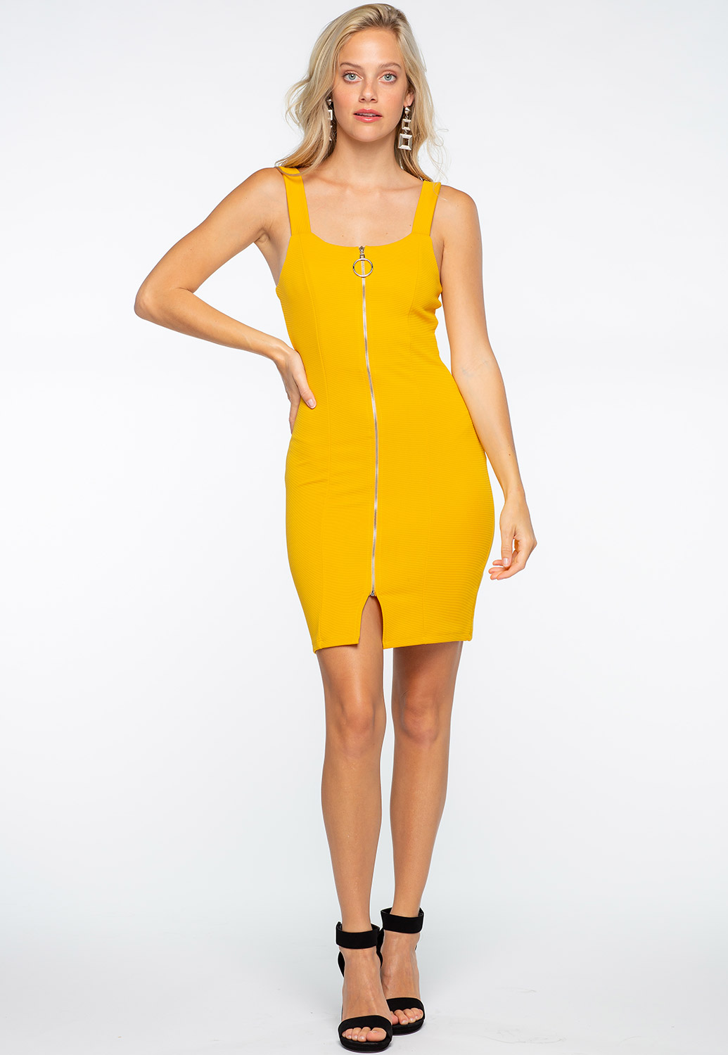 Zip Up Bodycon Dress