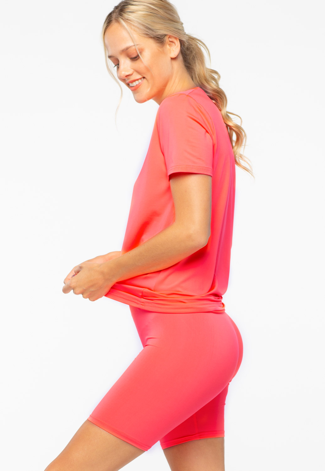 Basic V-Neck Activewear Set