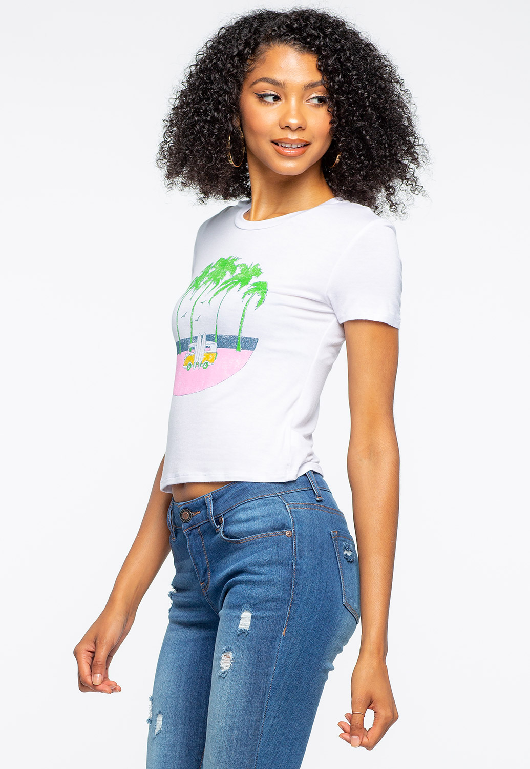 Semi Crop Summer Graphic Tee