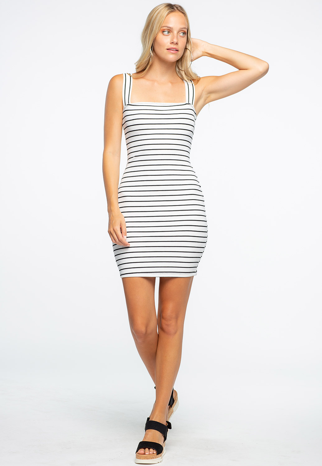 Striped Mini Bodycon Dress