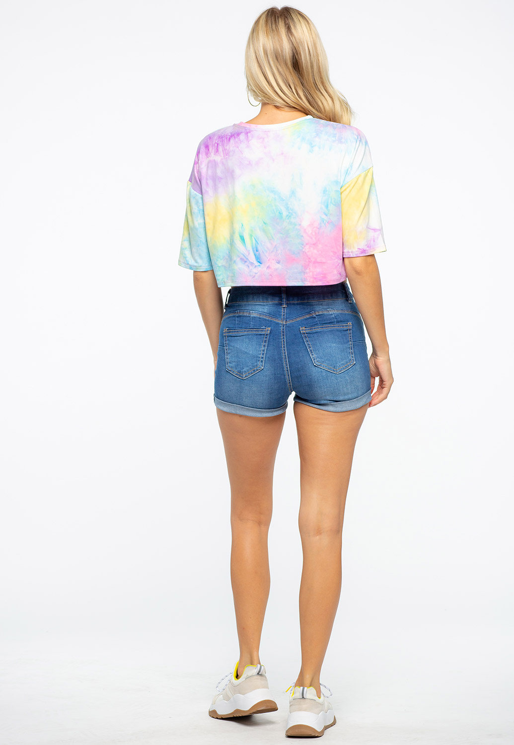 Light Colored Tie Dye Crop Top