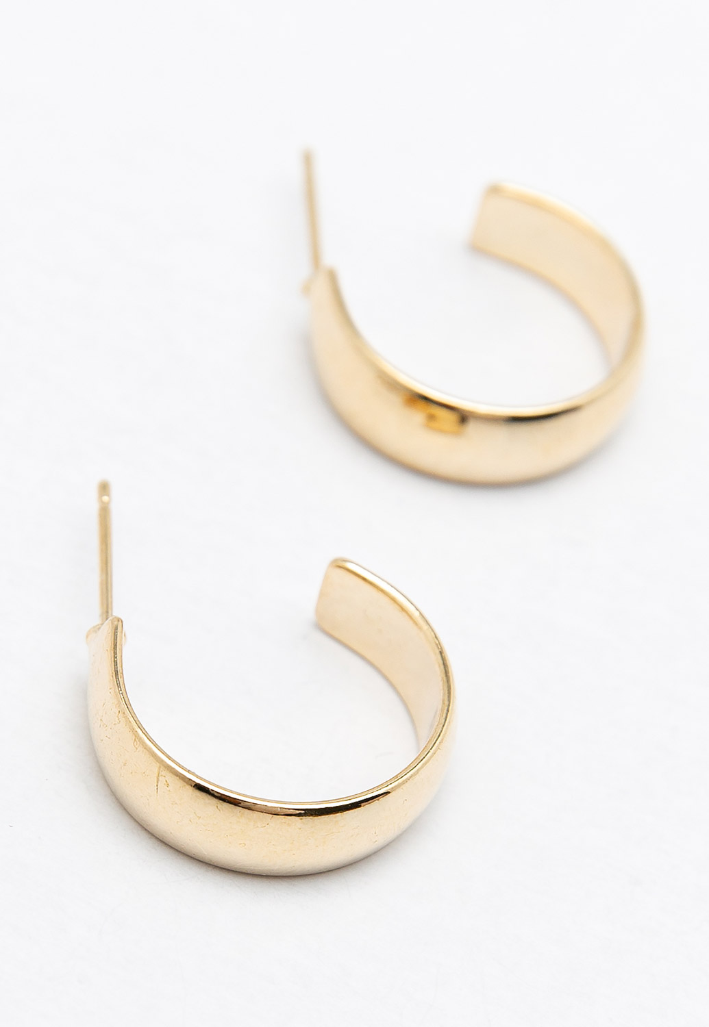 Metalic Hoop Earrings