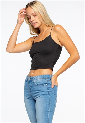 Basic Spaghetti Strap Crop Top