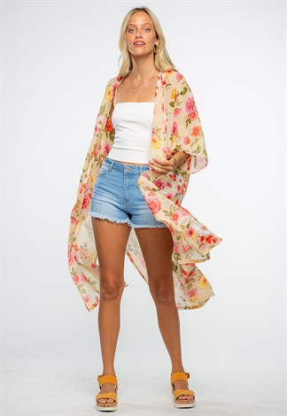 Perfect Summer Floral Sheer Cardigan