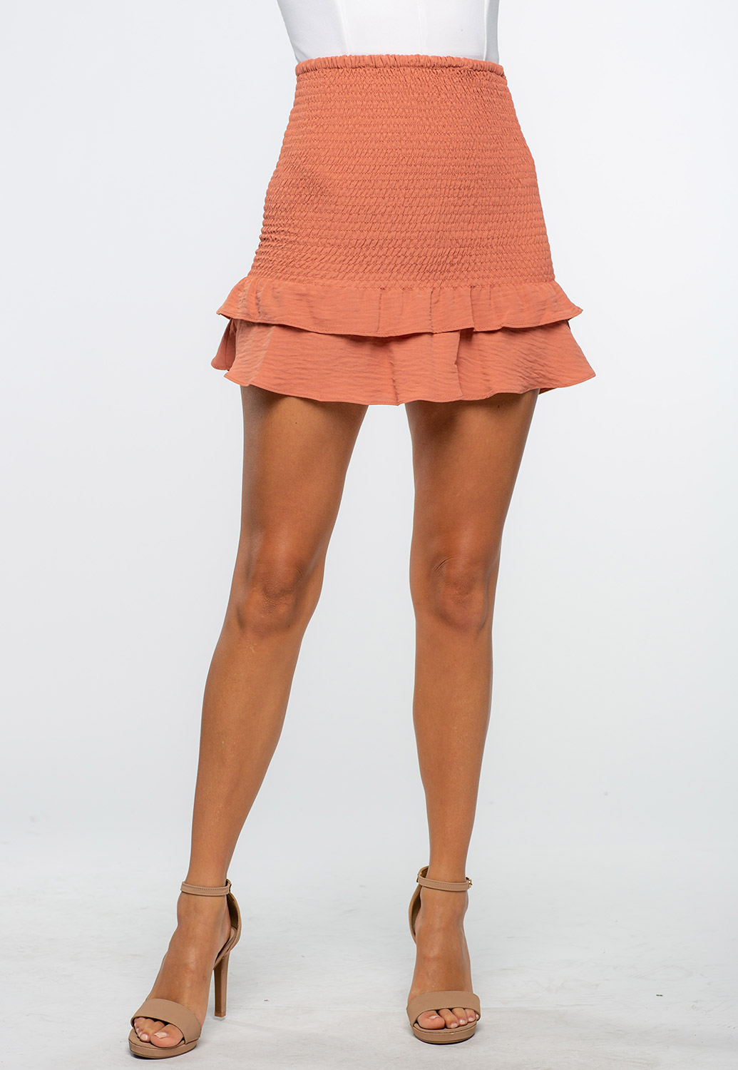 Smocked Ruffle Summer Skirt