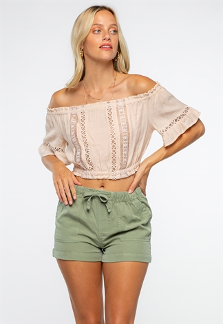 Off The Shoulder Summer Crop Top