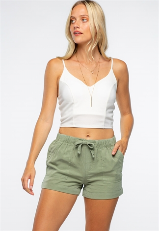 Front Waist Tie Casual Shorts