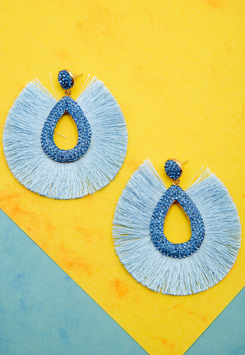 Sweet Summer Teardrop Tassel Earrings