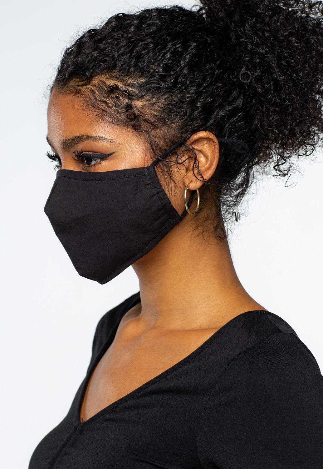 Solid Color Size Adjustable Face Mask