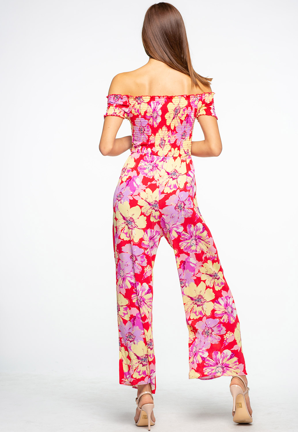 Off The Shoulder Floral Printed Plazzo Jumpsuit
