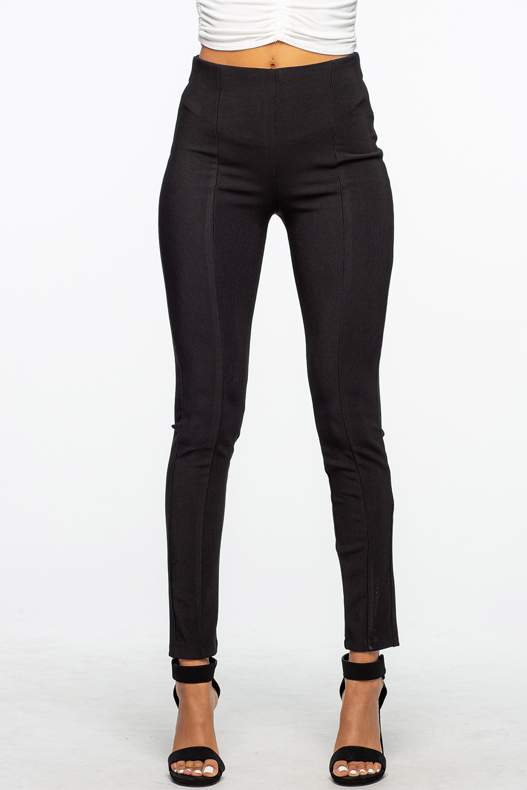 Black Skinny Stretchy Bidded Dressy Pants