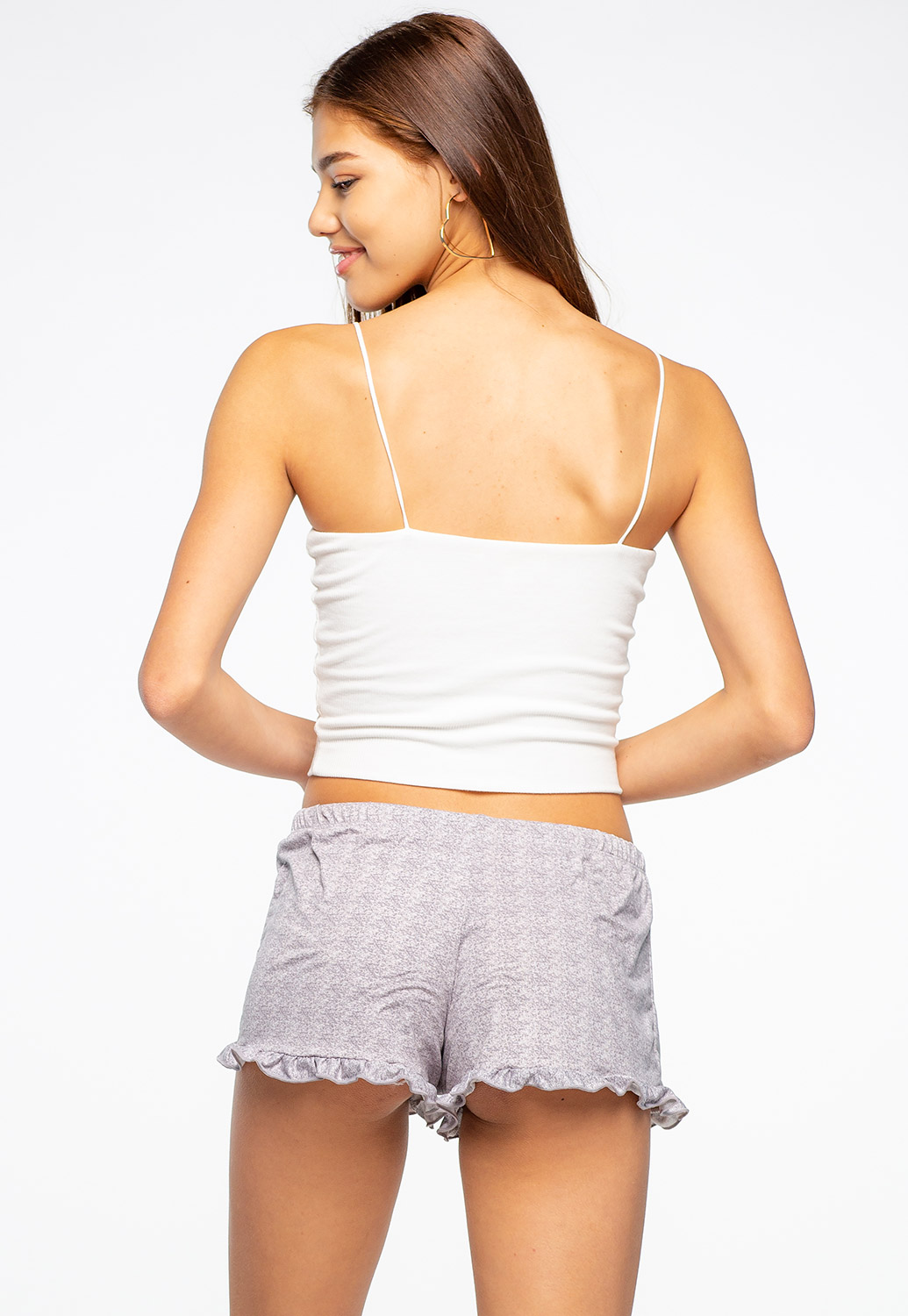 Comfortable Loungewear Shorts With Ruffles