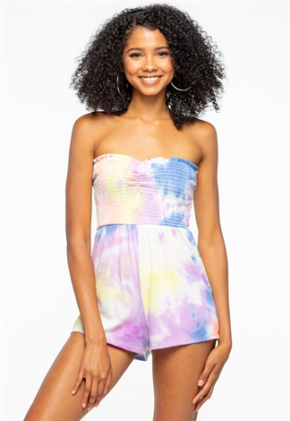Tie-Dye Off The Shoulder Comfortable Romper