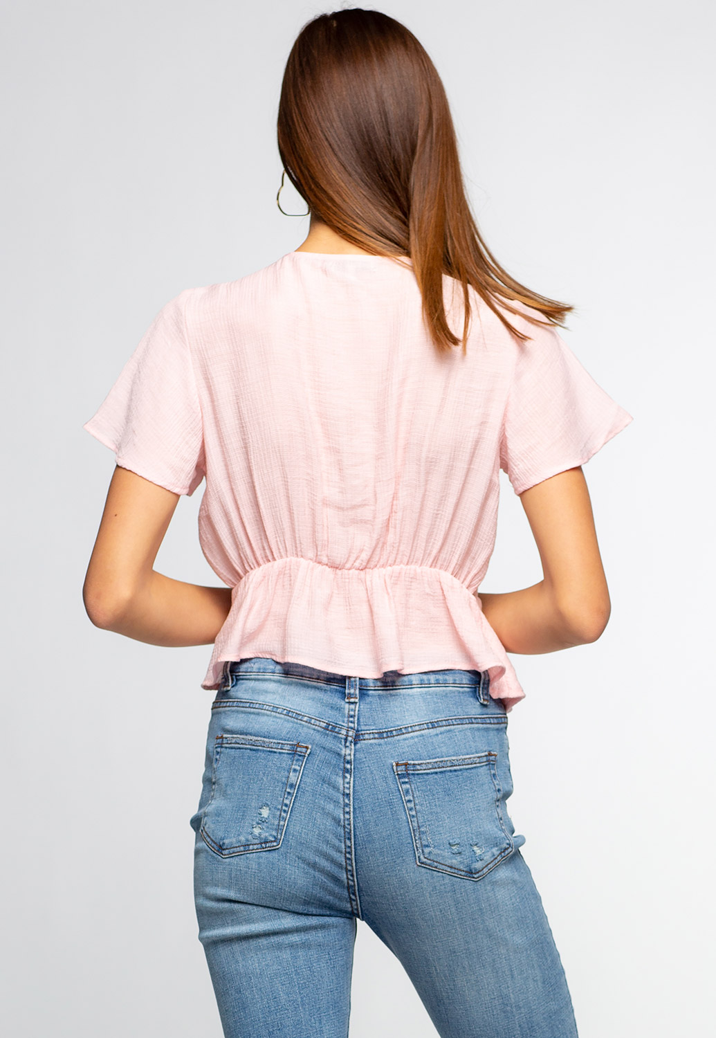 Kimono Inspired Side Ribbon Tie Top
