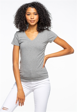 V-Neck Basic Casual Top
