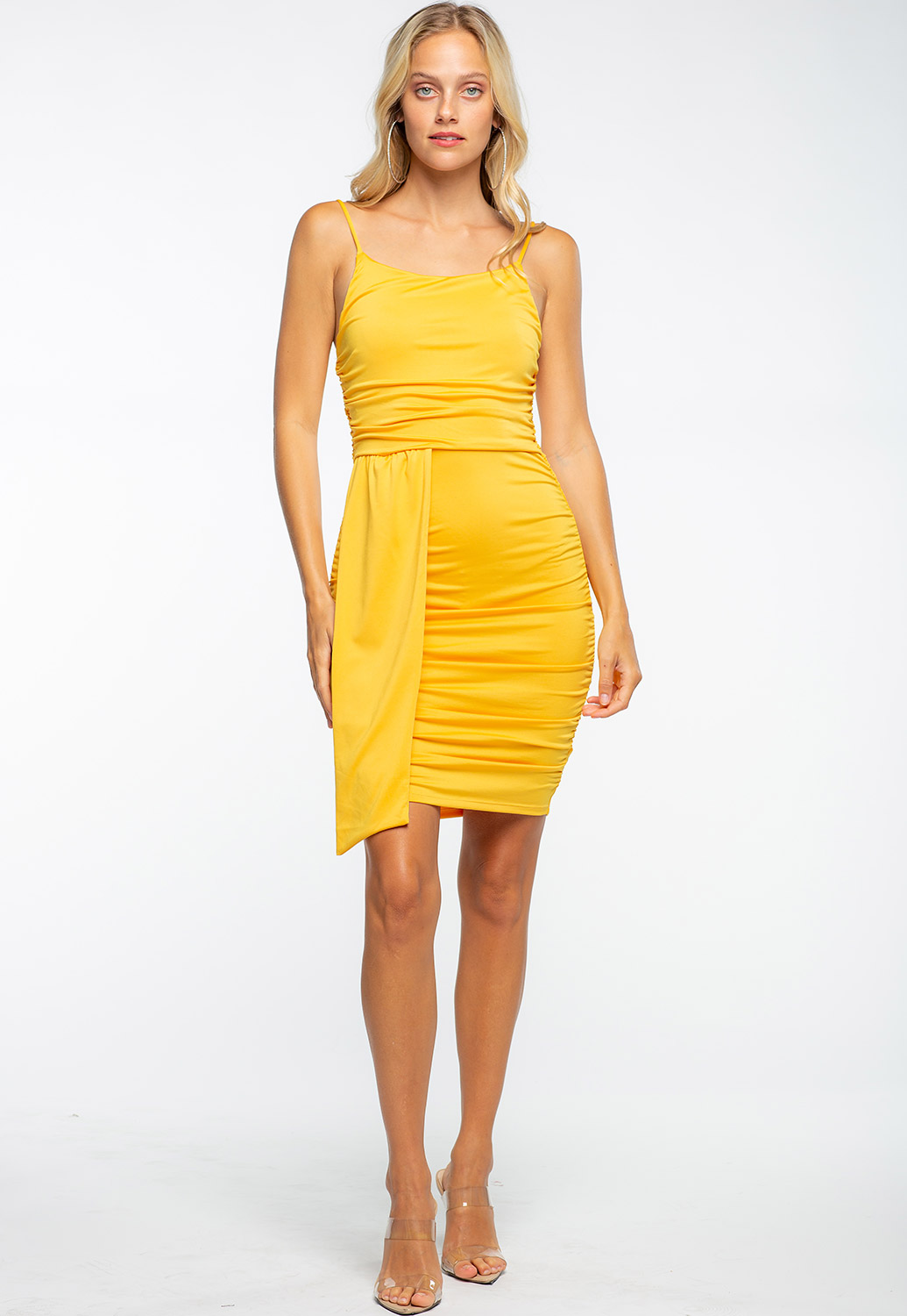 Double Side Ruched Bodycon Dress