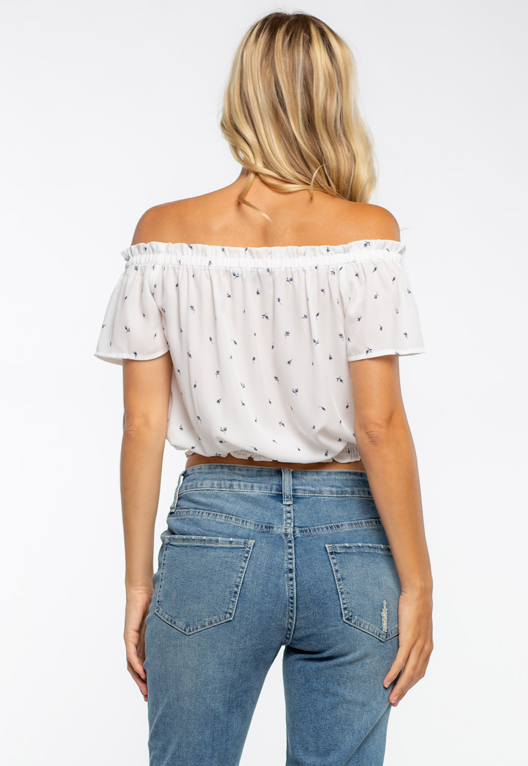 Off The Shoulder Floral Printed Top