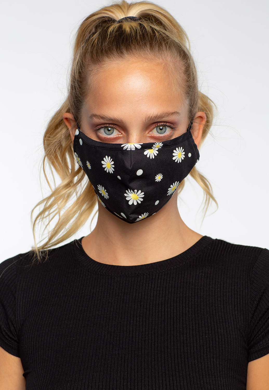 Daisy Printed Facial Mask