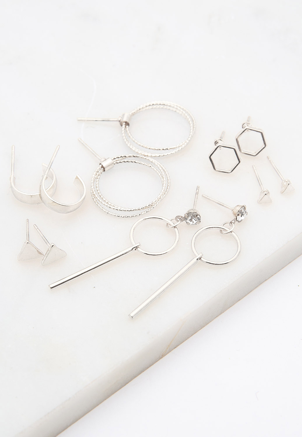 Multi-Shaped Stud Earrings