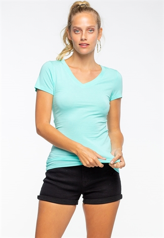 V-Neck Basic Tops