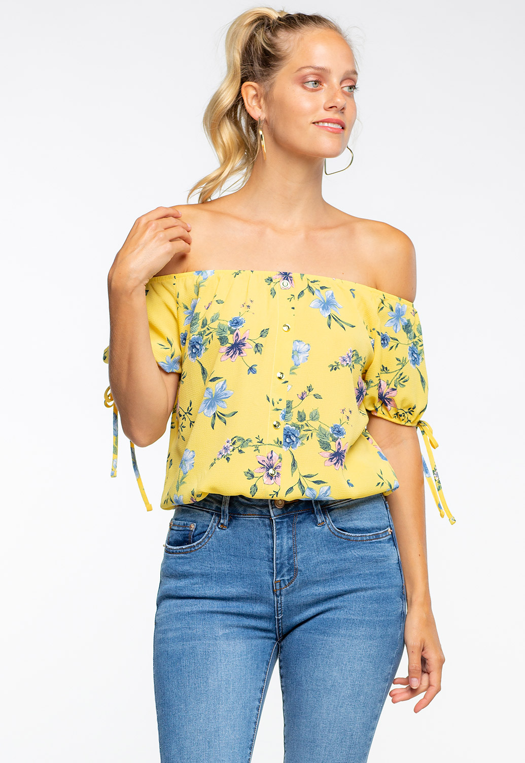 Off The Shoulder Summer Floral Top
