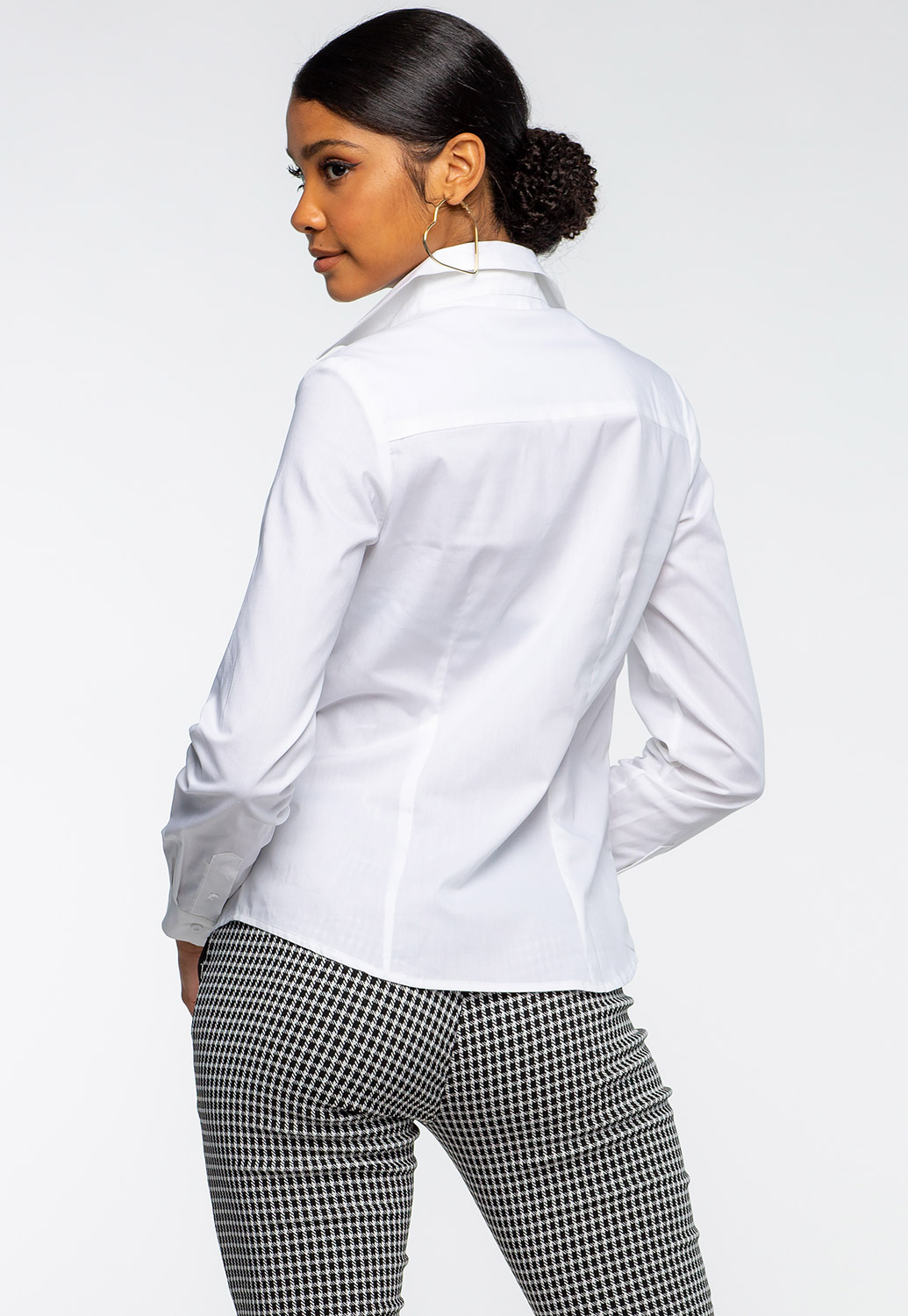 Classic Fit  Button Up Blouse