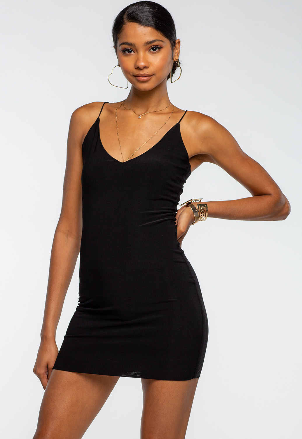 Spaghetti Strap Basic Mini Dress