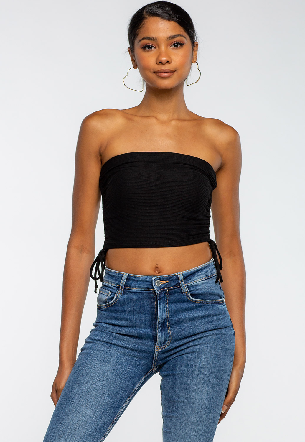 Double Side Drawstring Tube Top