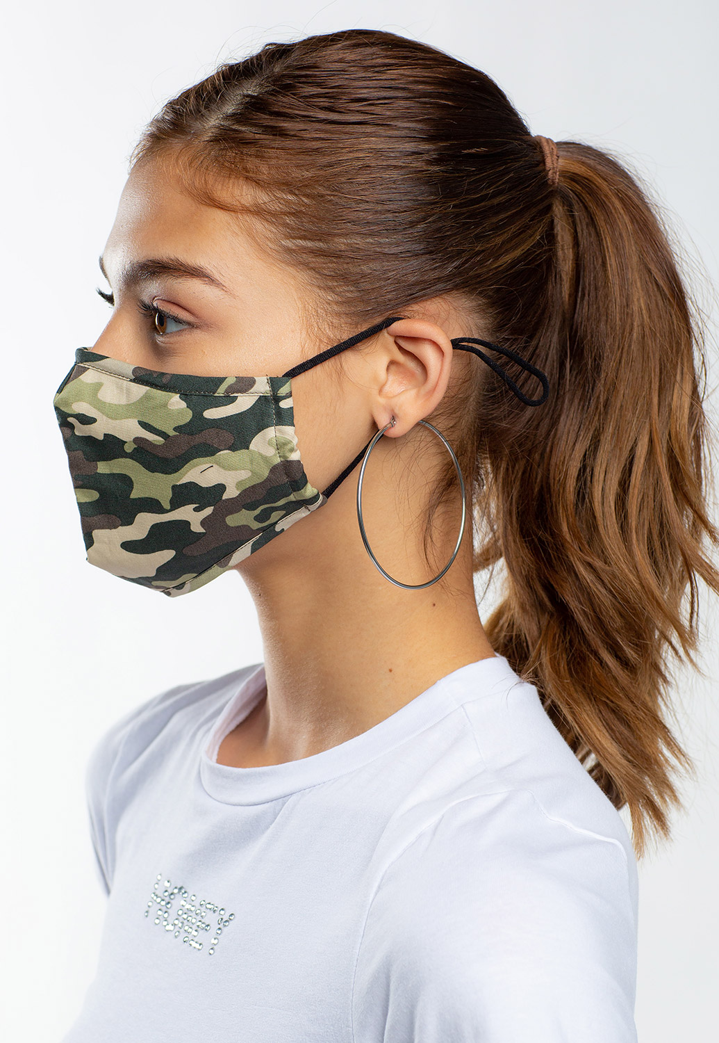Camouflage Printed Facial Mask