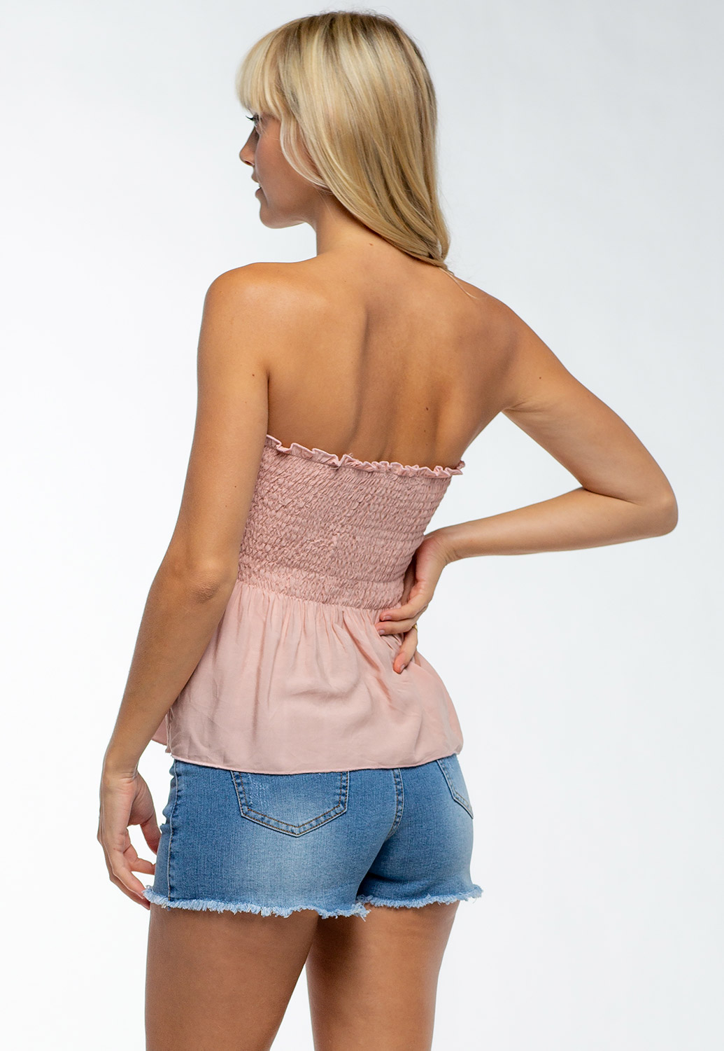 Summer Sleeveless Smocking Tube Top