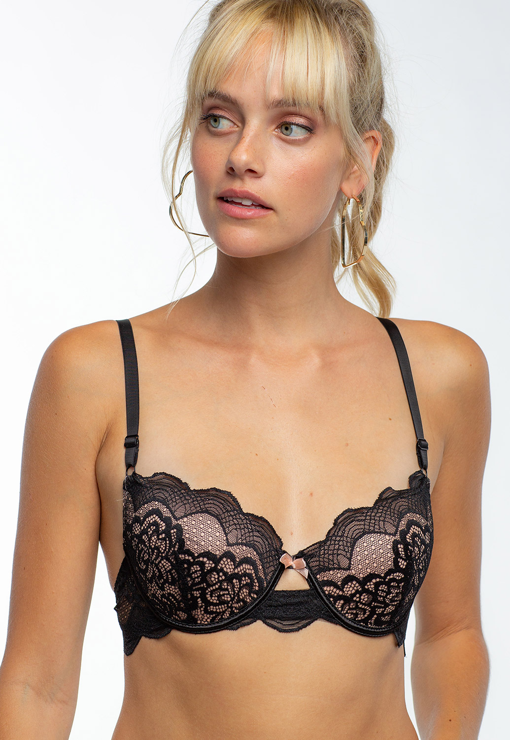 Sexy Floral Layered Lace Bra