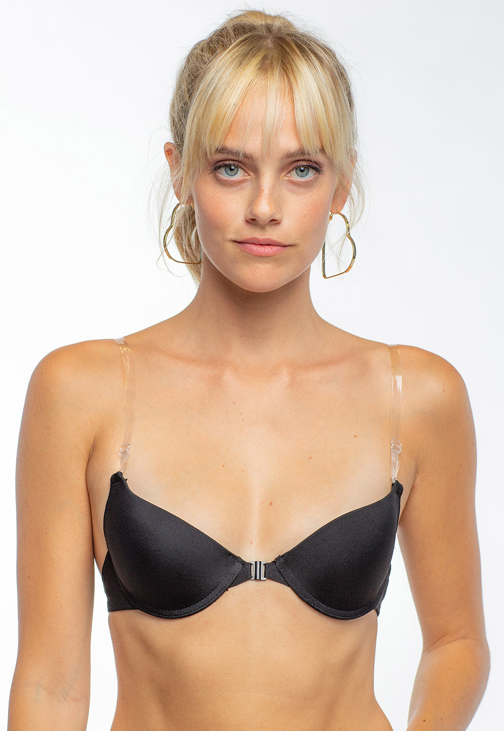 Clear Strap Basic Bra