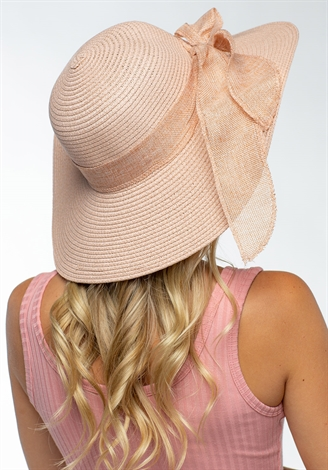 Floppy Straw Hat With Ribbon
