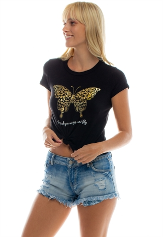 Butterfly Printed Graphic Top