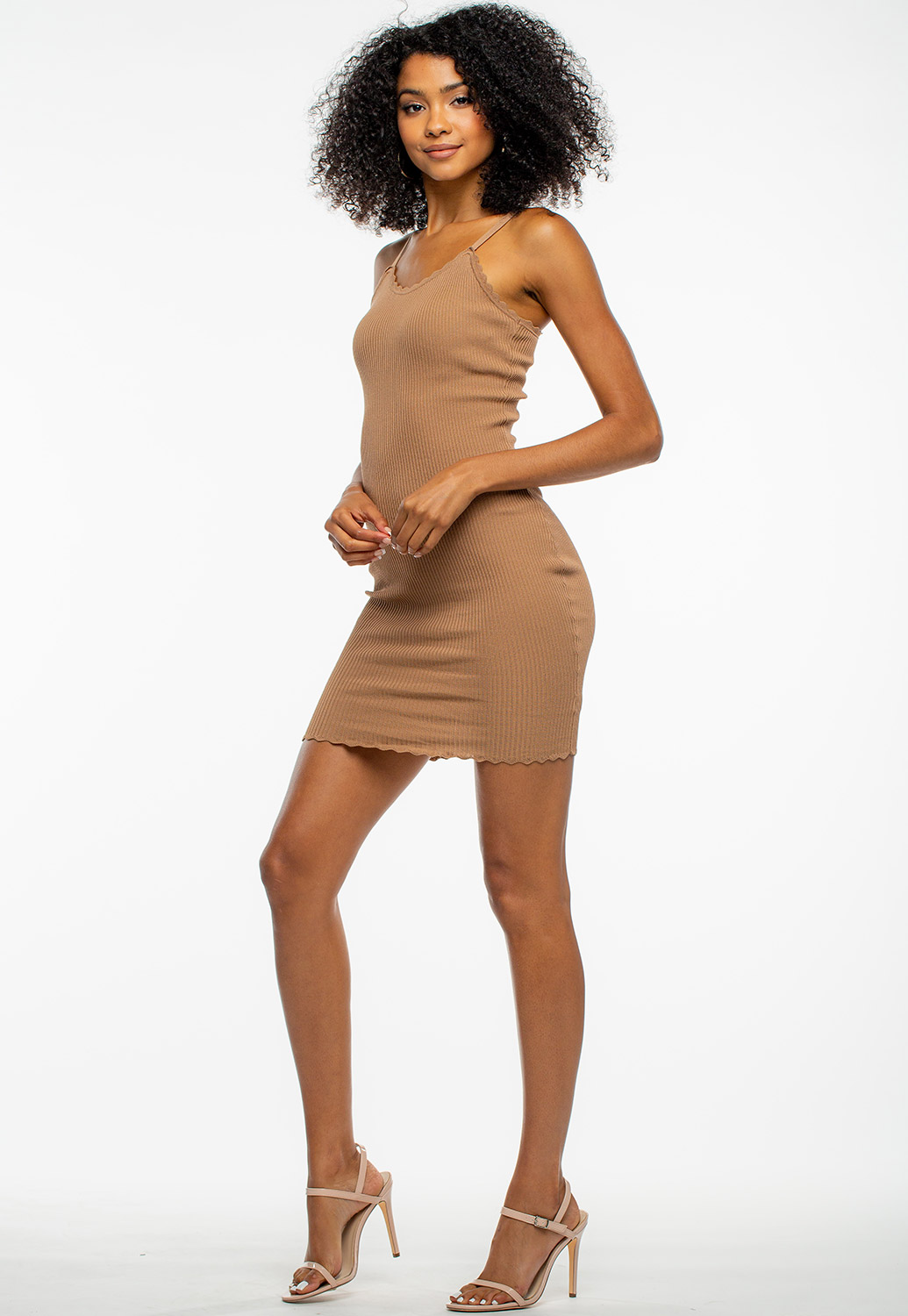 Basic Detailed Edge Bodycon Mini Dress