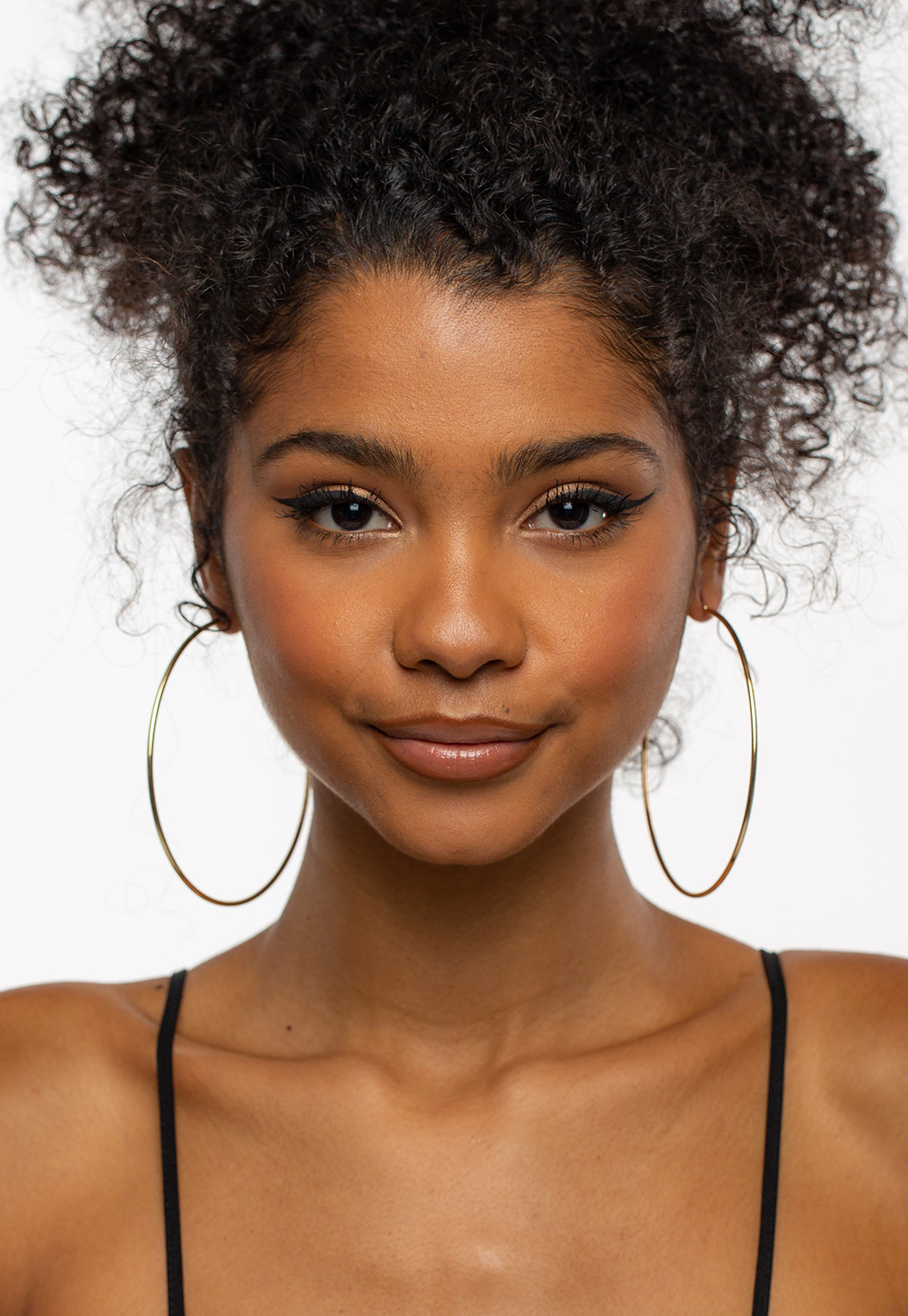 Solid Round Hoop Earrings