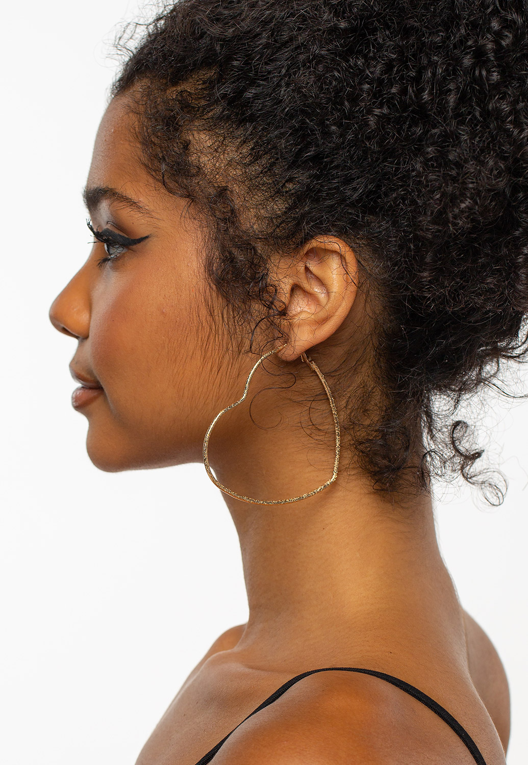 Heart Shaped Hoop Earring