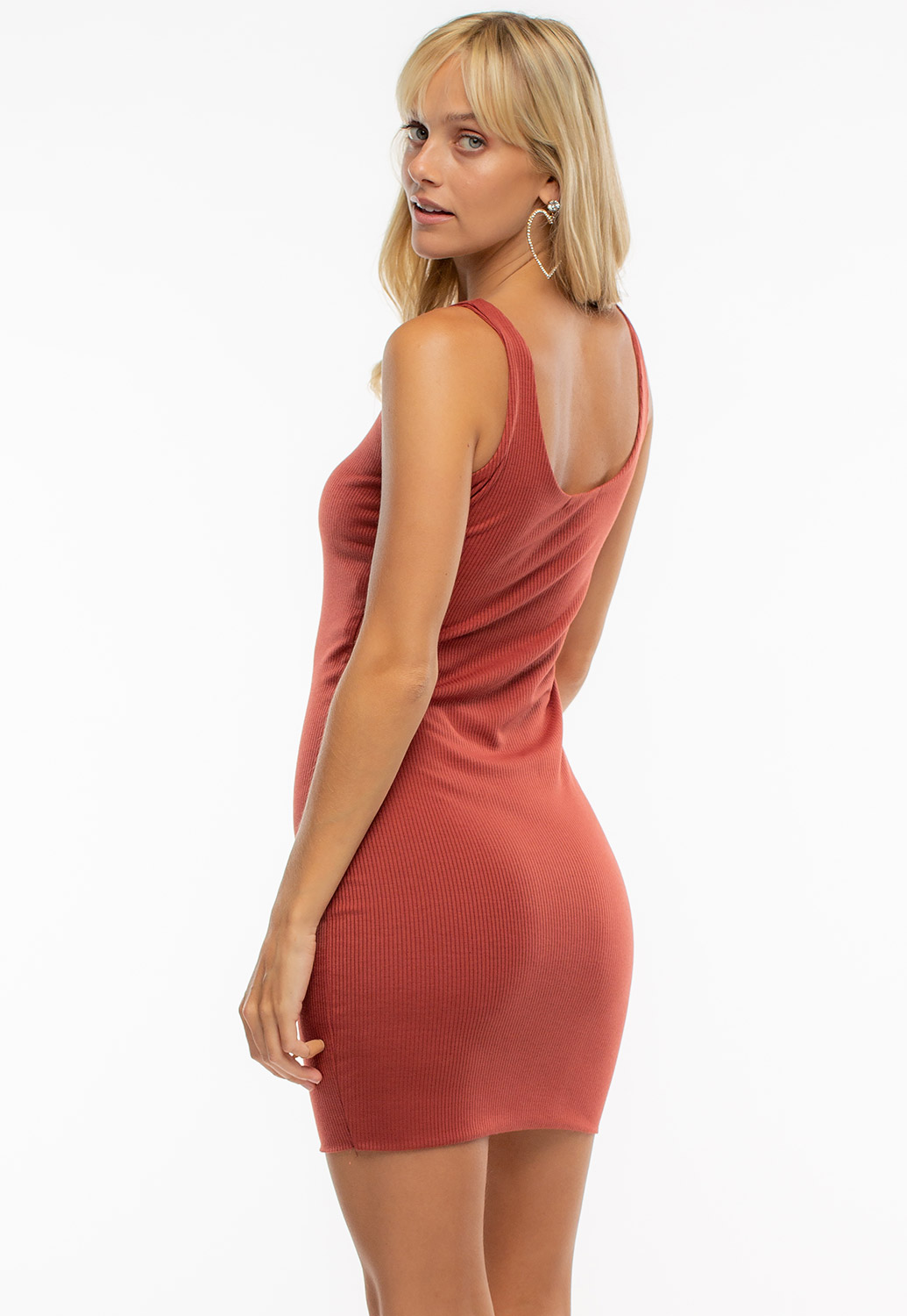 Basic Round Neck Strapless Mini Dress