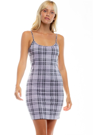 Multi Colored Plaid Bodycon Mini Dress