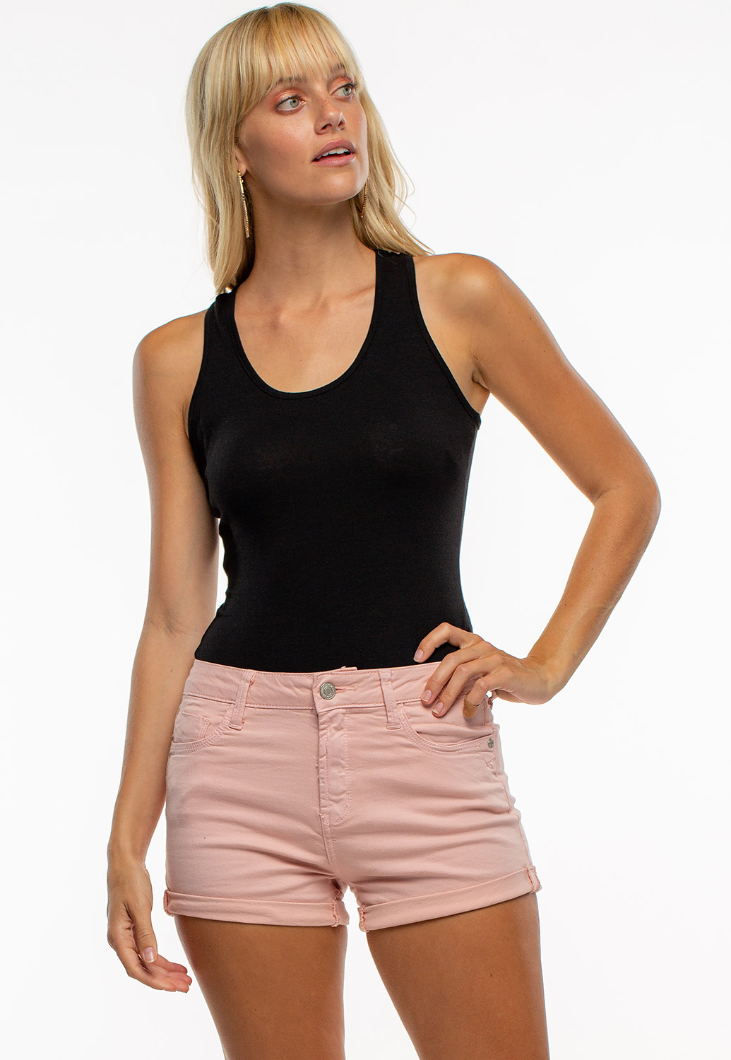 Round Neck Sleeveless Basic Bodysuit