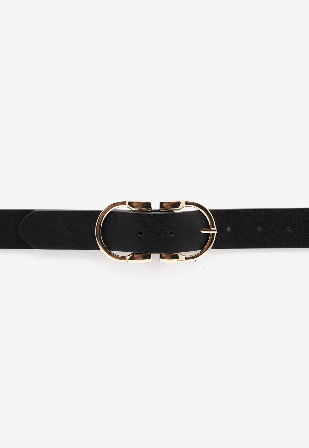 Faux Leather Simple Buckle Belt