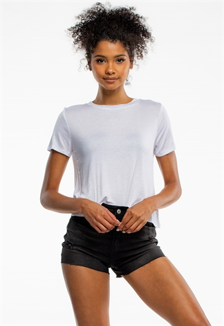 Round Neck Basic Crop Top