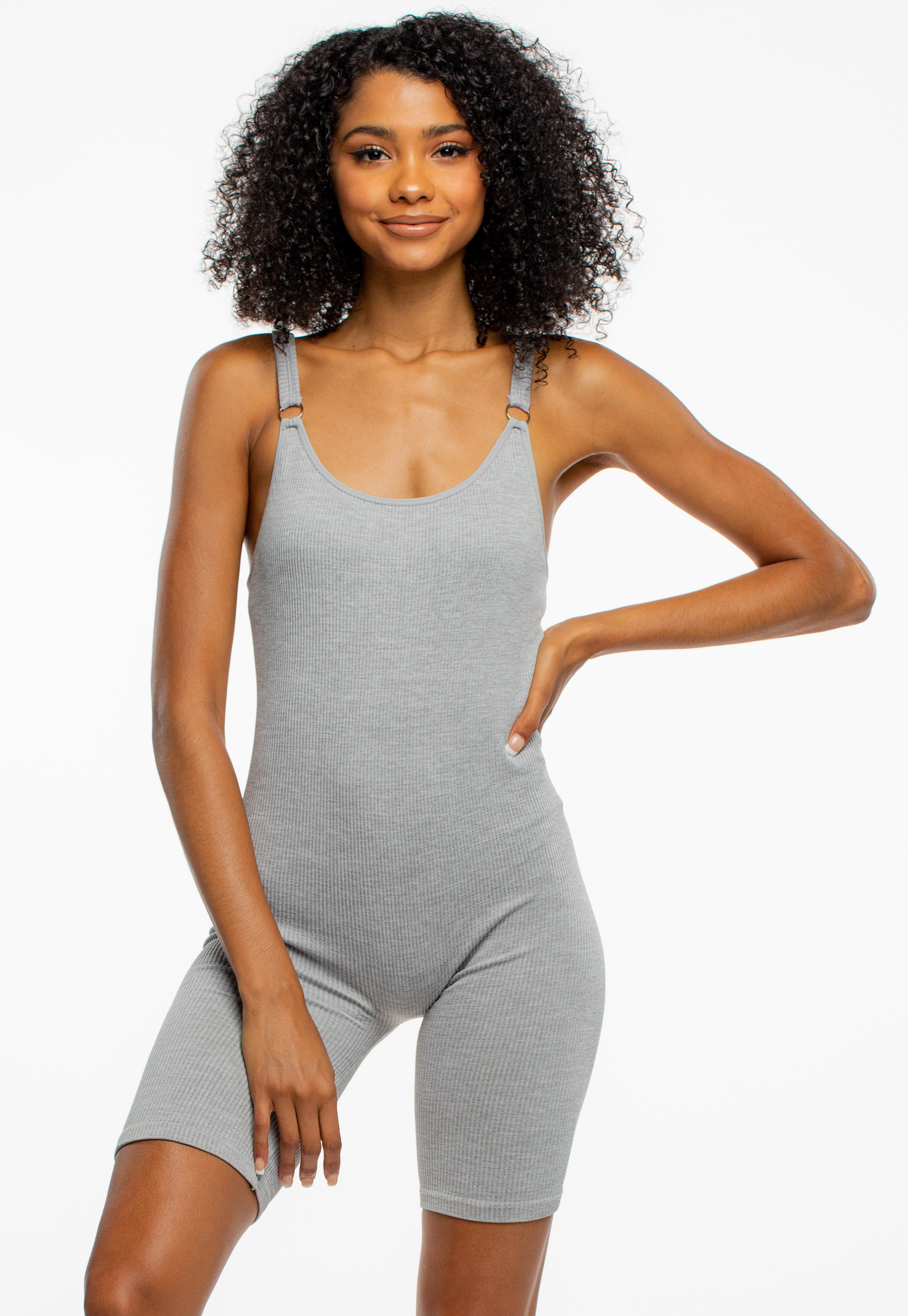 Daily Wearable Ribbed Romper