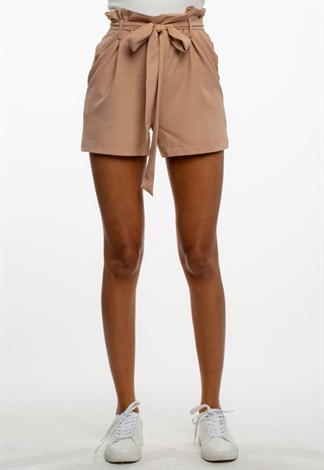 Casual Waist Tie Paperbag Shorts