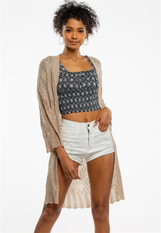 Patterned Long Summer Cardigan