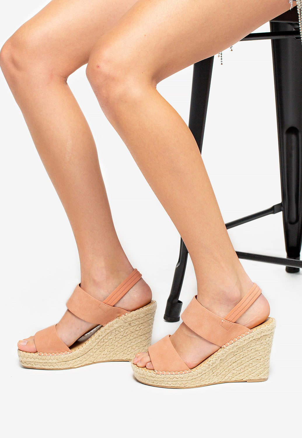 Dual Strap Wedge Sandals