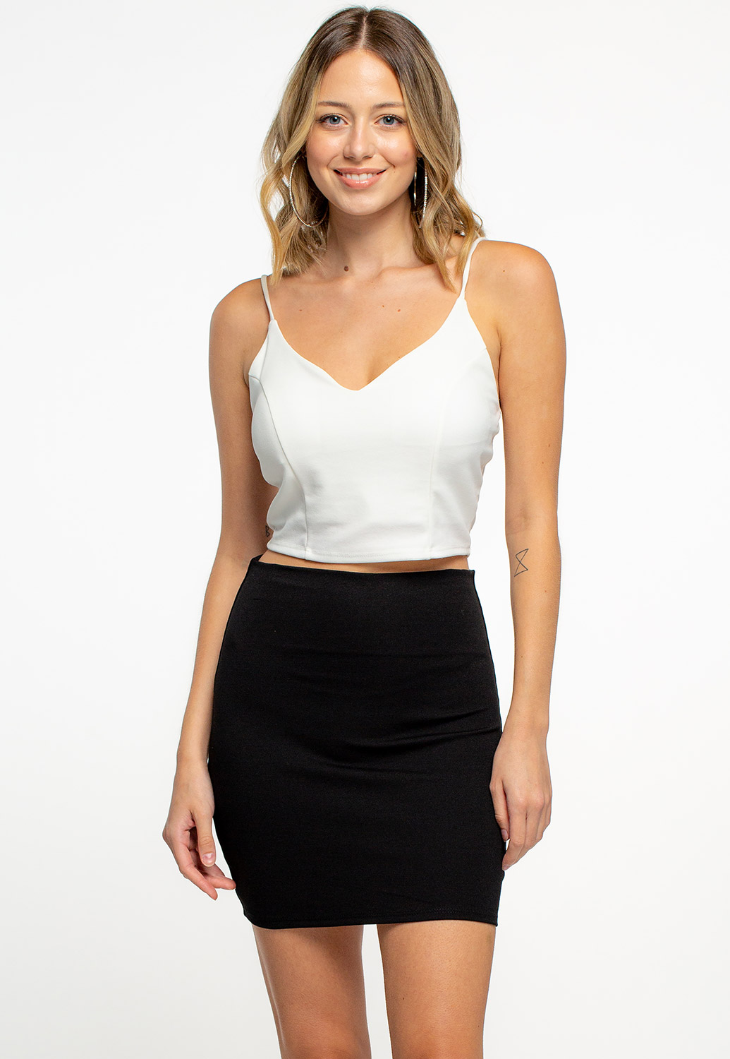 Simple Basic Stretchy Mini Skirts