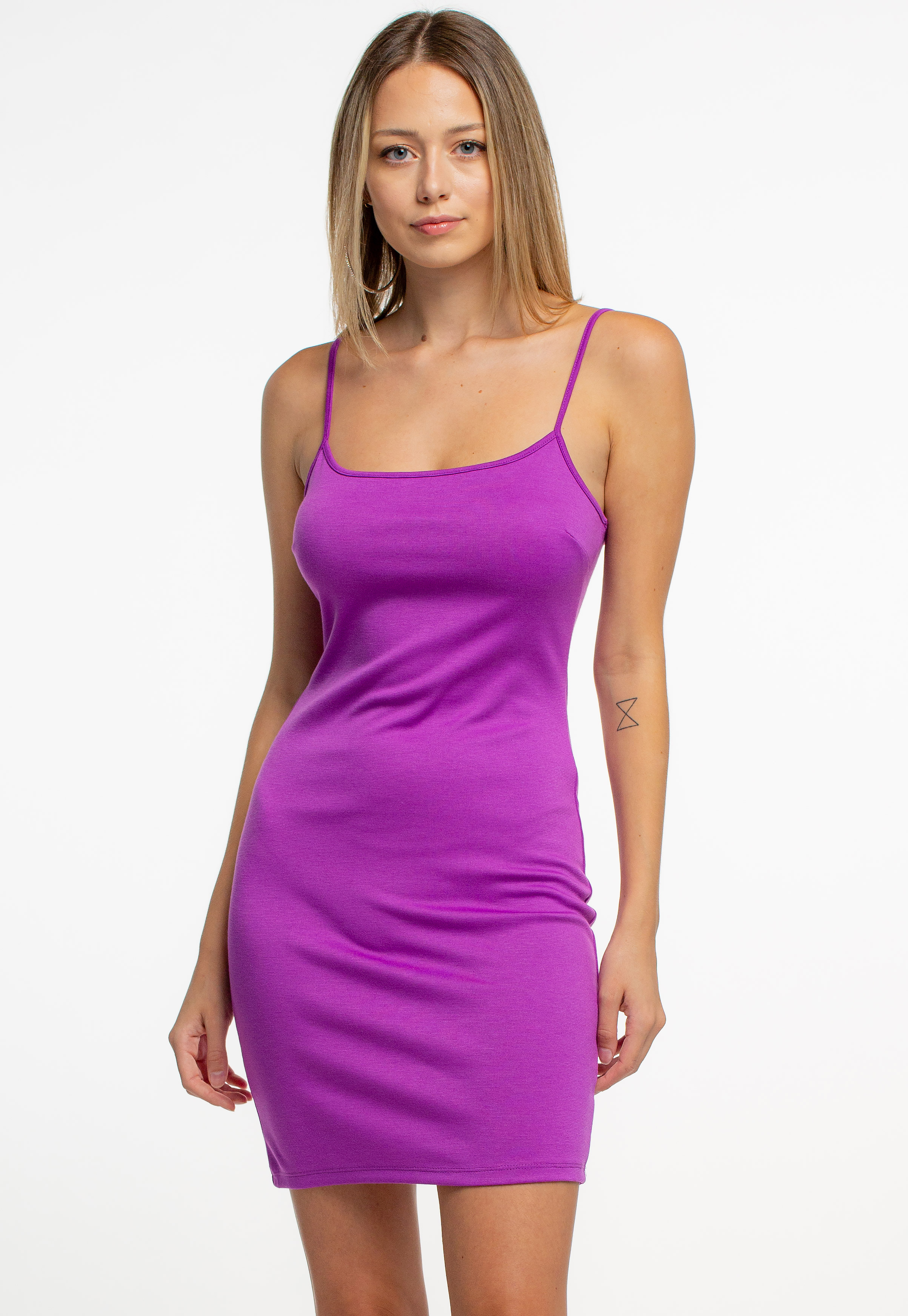 Solid Strappy Bodycon Mini Dress