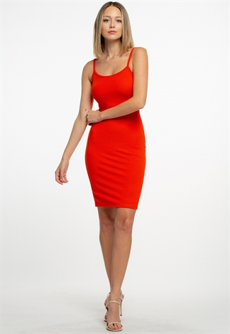 Sleeveless Basic Bodycon Dress