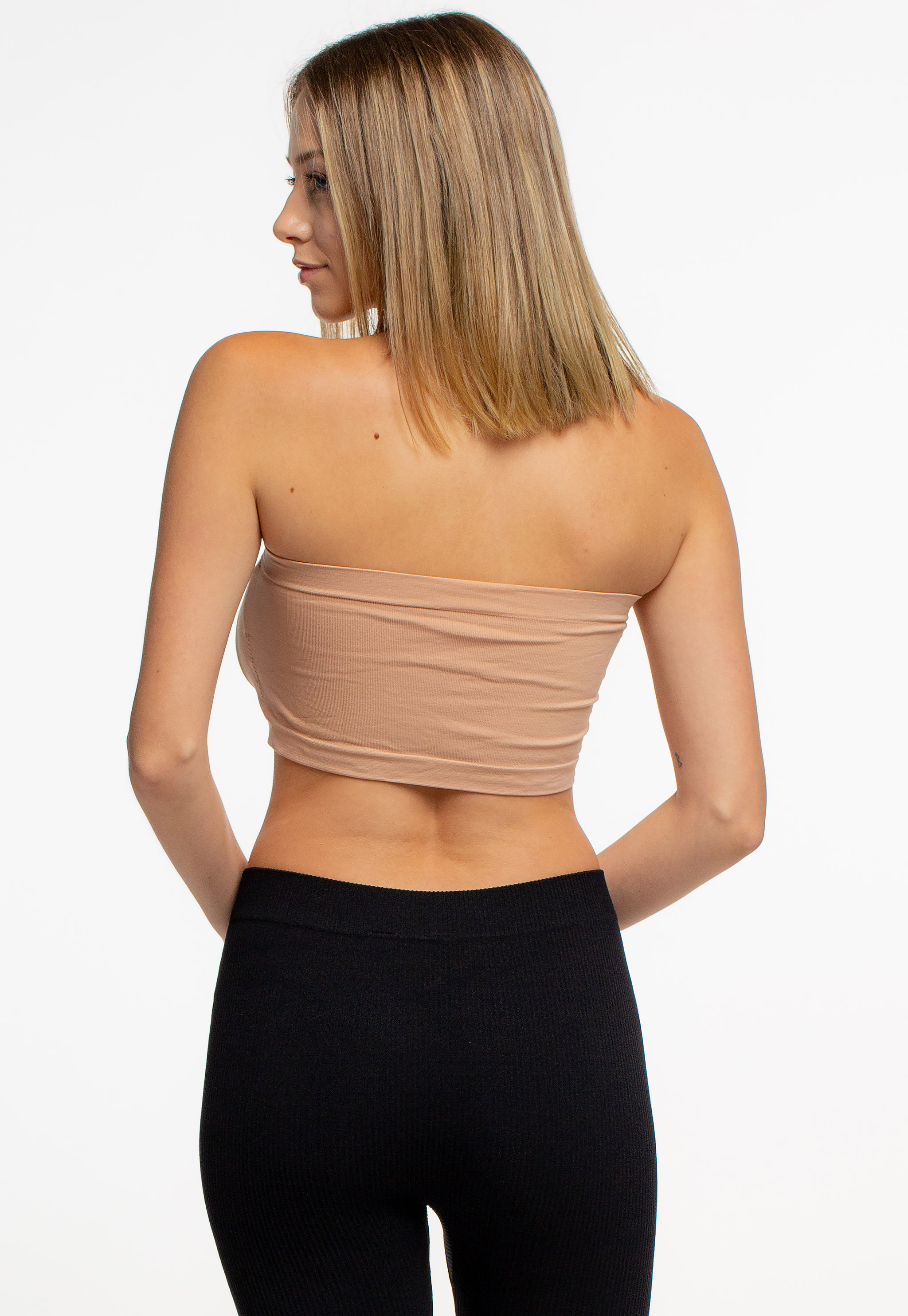 Seamless Strapless Bandeau Bra Top
